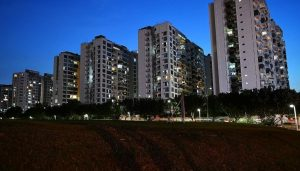 Condominiums in Punggol. Last month's uptick in new home sales to 767 units, from 645 in October, followed a temporary pullback in October's sales after the Urban Redevelopment Authority clamped down on the reissue of options to purchase